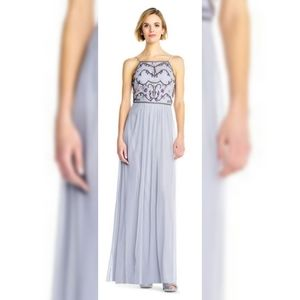 NWT Adrianna Papell lavender beaded dress